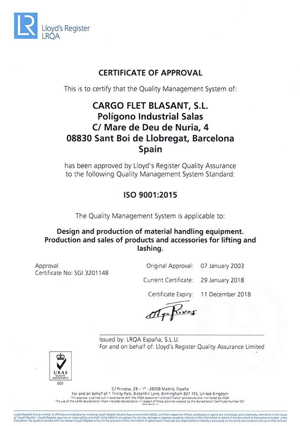 Certificates Ox Worldwide ISO 9001