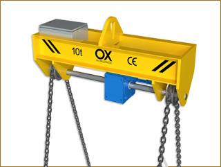 elevacion de cargas Ox Worldwide girapiezas