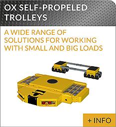 heavy lifting equipment Ox Worldwide self propelled trolleys