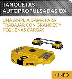 Equipos de elevacion y transporte de cargas Ox Worldwide tanquetas autopropulsadas