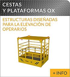 Equipos de elevacion y transporte de cargas Ox Worldwide cesta de elevaciòn