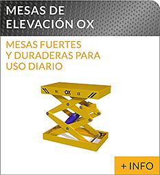 Equipos de elevacion y transporte de cargas Ox Worldwide mesa elevadora hidraulica