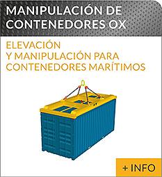 Equipos de elevacion y transporte de cargas Ox Worldwide spreader para contenedores