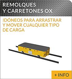 Equipos de elevacion y transporte de cargas Ox Worldwide carros motorizados industriales