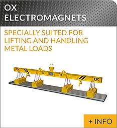 heavy lifting equipment Ox Worldwide lifting electromagnet