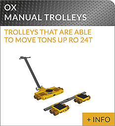 heavy lifting equipment Ox Worldwide manual trolley