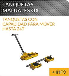 Equipos de elevacion y transporte de cargas Ox Worldwide tanquetas manuales