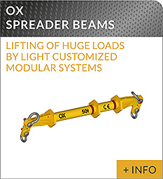 heavy lifting equipment Ox Worldwide spreader beam