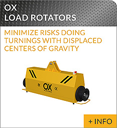 heavy lifting equipment Ox Worldwide Load Rotators
