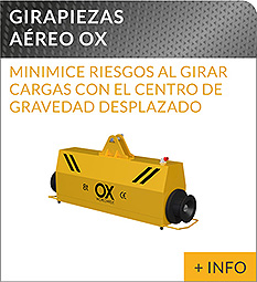 Equipos de elevacion y transporte de cargas Ox Worldwide girapiezas volteador