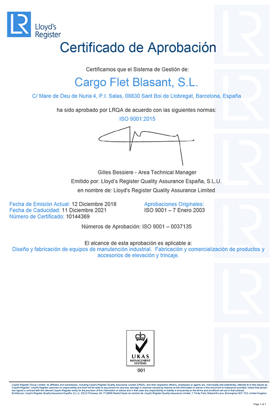 Certificados Ox Worldwide ISO 9001