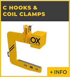 heavy lifting equipment - C hook & Coil Clamps Ox Worldwide