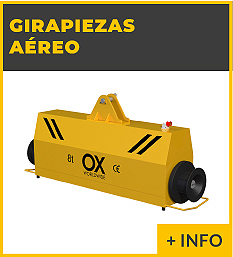 Equipos de elevacion y transporte de cargas - girapiezas volteador - Ox Worldwide