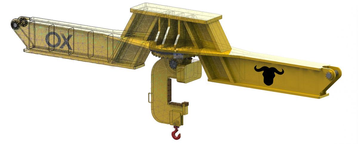 Balancín de elevación giratorio con gancho C Ox Worldwide B