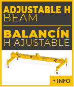 adjustable H lifting beam