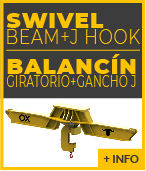 swivel lifting beam with J HOOK