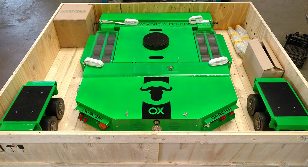 Motorized trolleys delivery box