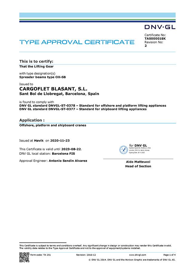 DNV Certificate | Certificates Ox Worldwide