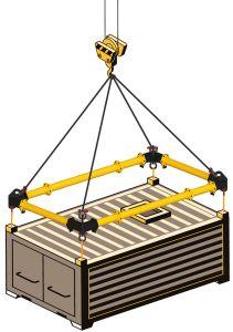 spreader frame modular or corner beam para grandes cargas