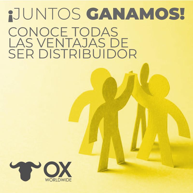 convierte en distribuidor Ox Wolrdwide